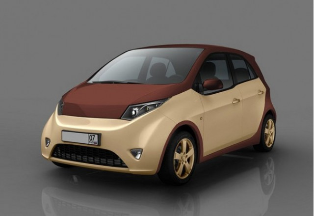 Prokhorov CityCar natural-gas hybrid vehicle, design prototype
