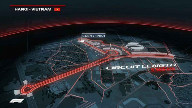 Proposed circuit for Formula 1 Vietnamese Grand Prix