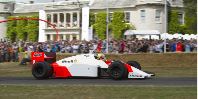 Prost-era McLaren F1 race cars at the 2010 Goodwood Festival of Speed