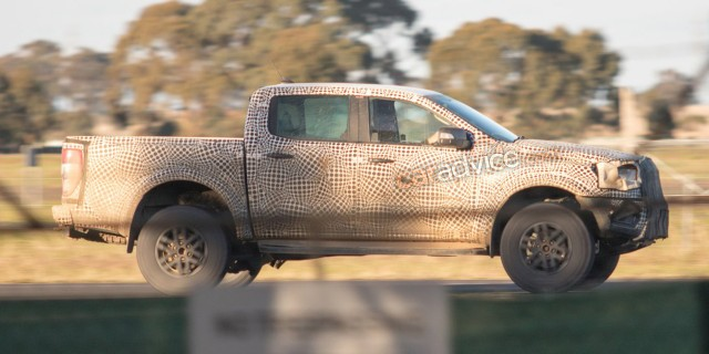 Prototype for potential 2019 Ford Ranger Raptor - Image via CarAdvice