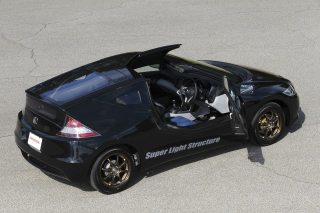 lightweight carbon fiber honda cr z prototype driven. Black Bedroom Furniture Sets. Home Design Ideas