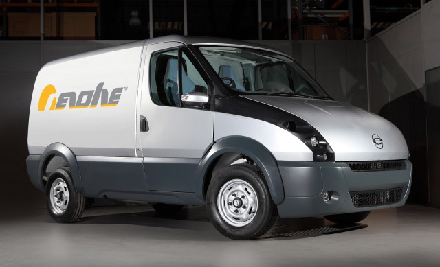 Prototype of range-extended electric delivery van by Revolve Technologies & Intelligent Energy, UK
