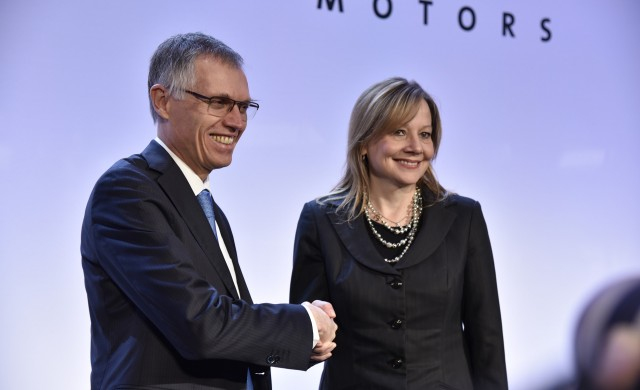 PSA Group CEO Carlos Taveres and GM CEO Mary Barra