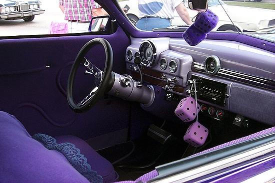 Purple street rod
