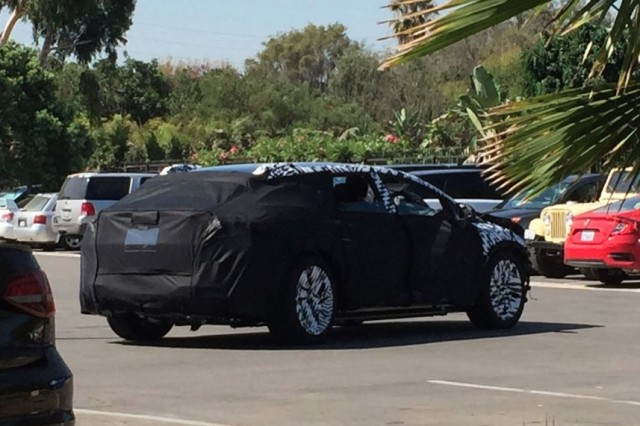 Purported Faraday Future test mule (Photo by Twitter user Everette Taylor)
