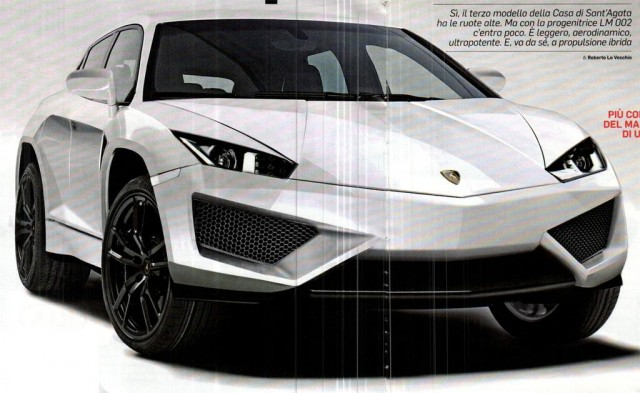 Purported image of Lamborghini's upcoming SUV, via Quattroruote