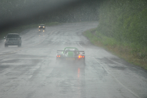 Racing Green Endurance - A rainy Start