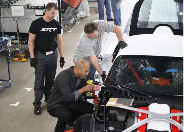 Ralph Gilles builds a Viper with Jim Lay and Tony Banks - image: Chrysler LLC