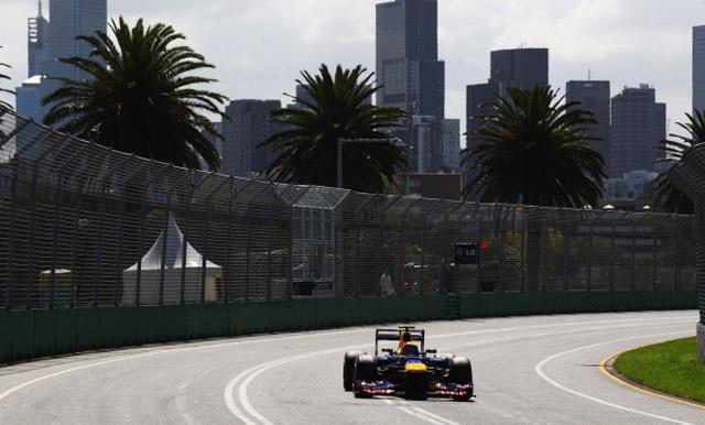 Red Bull at the 2012 Formula 1 Australian Grand Prix