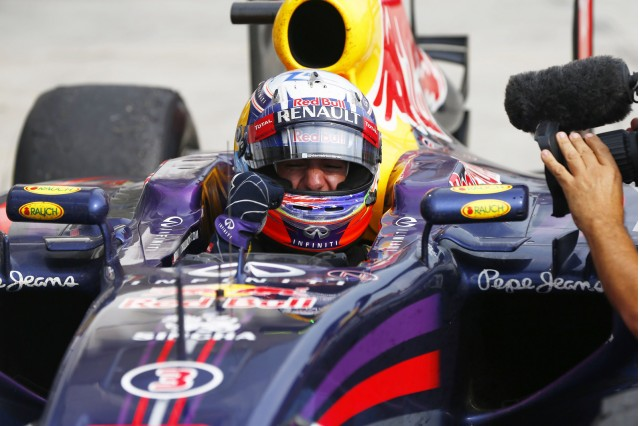 Red Bull Racing's Daniel Ricciardo at the 2014 Formula One Hungarian Grand Prix