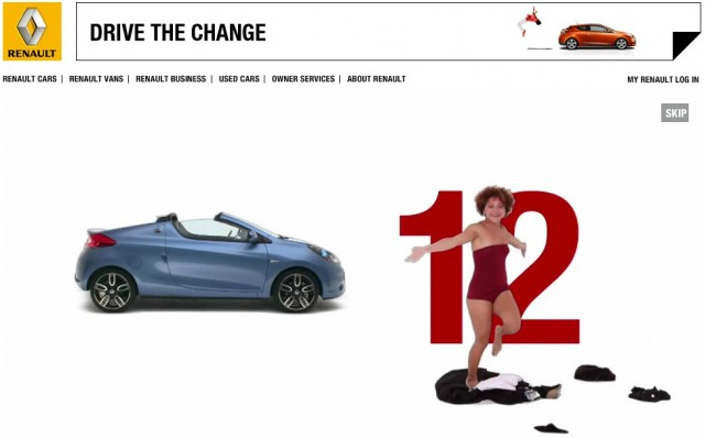 Renault 12SecondStrip promotion for the Wind convertible