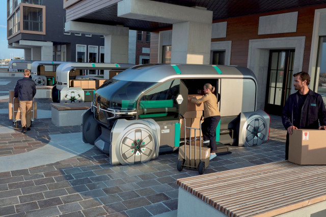 Renault Envisions Convoys Of Self Driving Delivery Vehicles With Ez