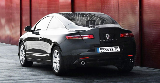 renault launches new 39 black edition 39 laguna coupe. Black Bedroom Furniture Sets. Home Design Ideas