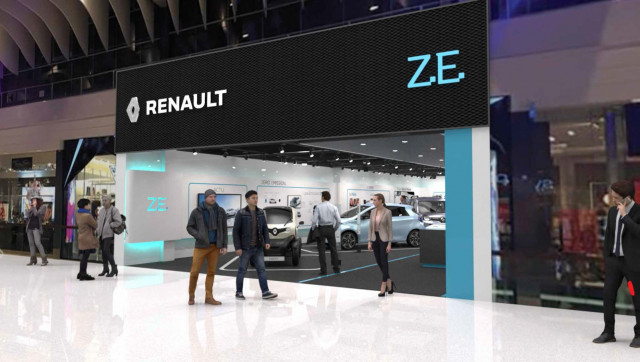 Renault opens its first electric-vehicle-only showroom, in Sweden