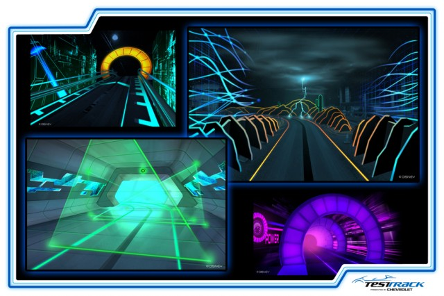 Renderings for the new Test Track at Walt Disney World