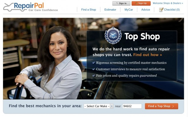 RepairPal Top Shop Network - mechanics with high customer satisfaction