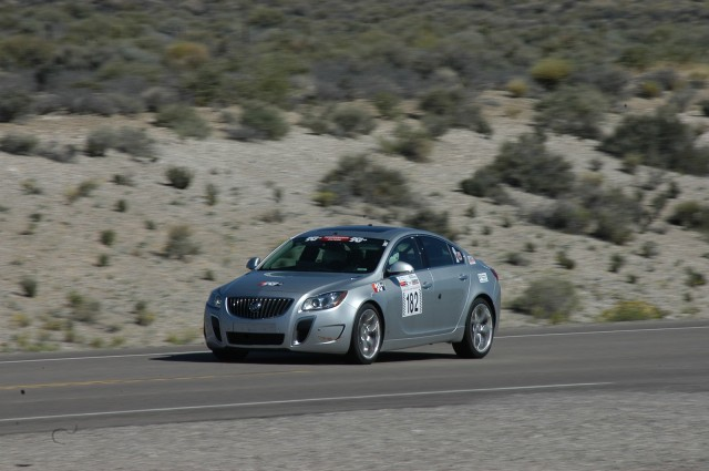 Rietow and Townsend, driving the Nevada Open Road Challenge