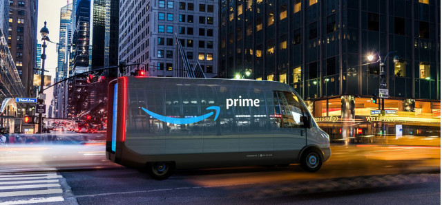 Rivian electric delivery van for Amazon