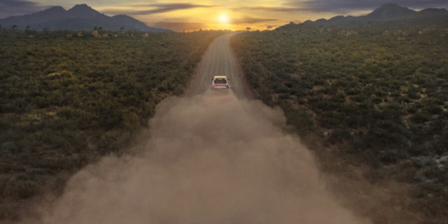 Rivian R1T electric pickup concept teaser