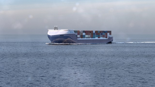 Rolls Royce autonomous cargo ship concept