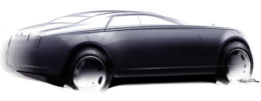 rolls royce releases official sketches of rr4 sedan. Black Bedroom Furniture Sets. Home Design Ideas