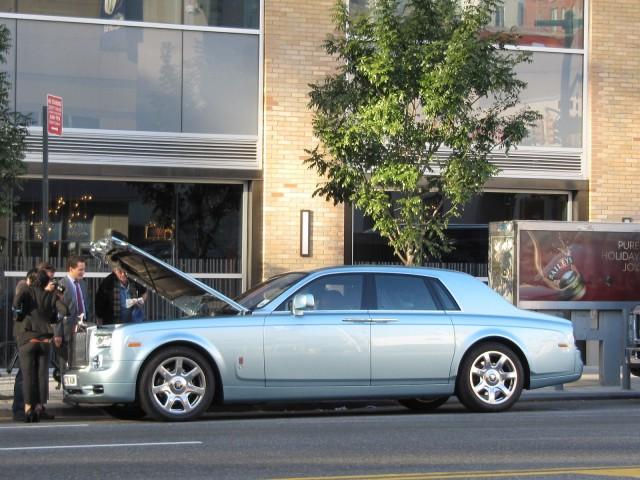Rolls-Royce Phantom 102EX, experimental electric prototype, New York City, November 2011