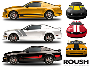 new roush vinyl stripes for 2005 2011 ford mustangs. Black Bedroom Furniture Sets. Home Design Ideas