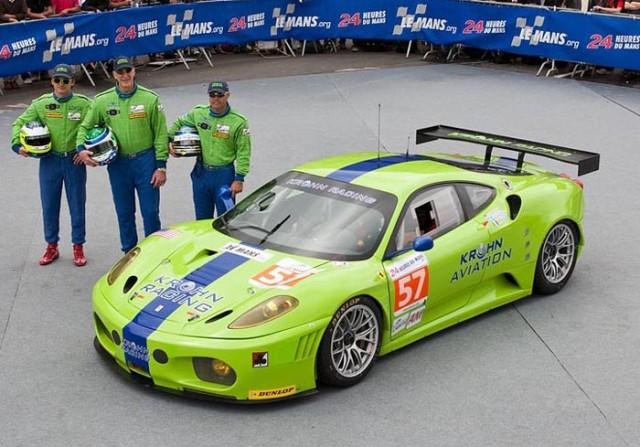 Rugolo, Krohn, Jonsson at Le Mans in 2011 - Krohn Racing photo