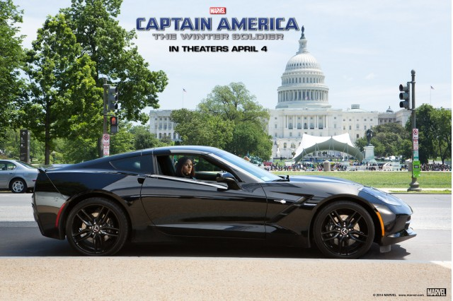S.H.I.E.L.D. agent Black Widow and her 2014 Corvette Stingray