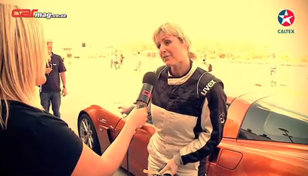 Sabine Schmitz tests the Chevrolet Corvette Z06
