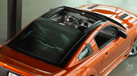 saleen unveiling power sliding glass roof for s197 mustang. Black Bedroom Furniture Sets. Home Design Ideas
