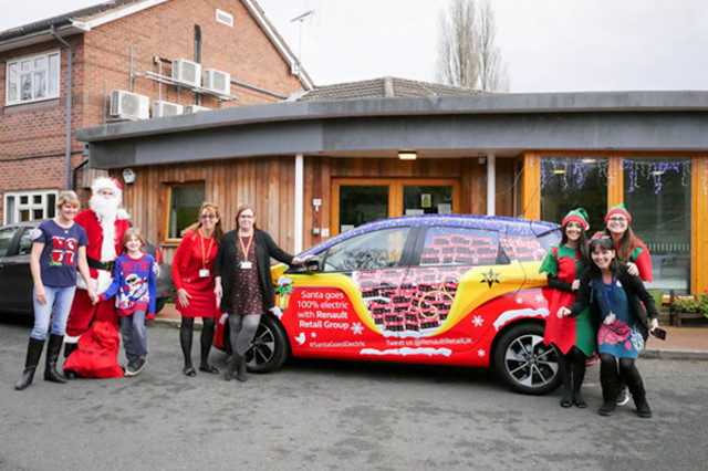 "Santa delivers chocolates in electric Renault Zoe ""sleigh"""