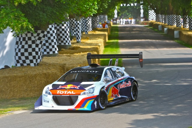 loeb and peugeot pikes peak car set for record goodwood hill climb run. Black Bedroom Furniture Sets. Home Design Ideas