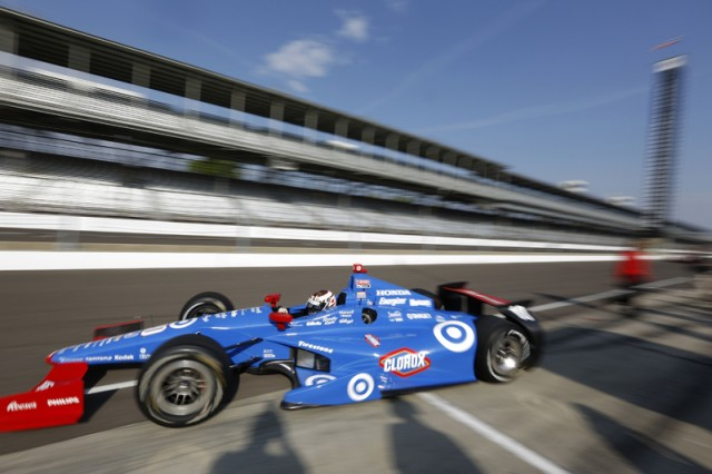 Scott Dixon tests at Indy - IndyCar/LAT USA