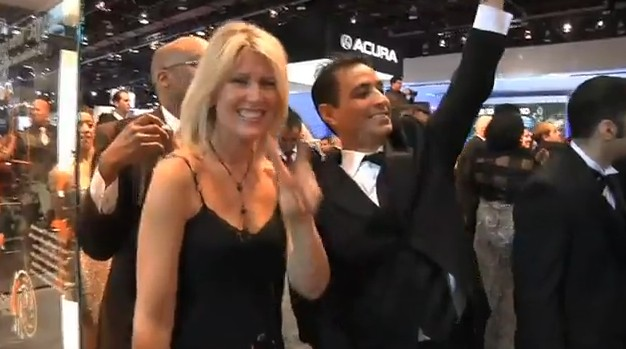 Screencap from 2010 NAIAS Black Tie Charity Preview flash mob event