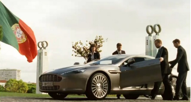 Screencap from Aston Martin's 'True Power Should Be Shared' film