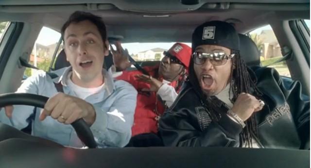 Screencap from Australian Kia Sportage ad with Grandmaster Melle Mel and Scorpio