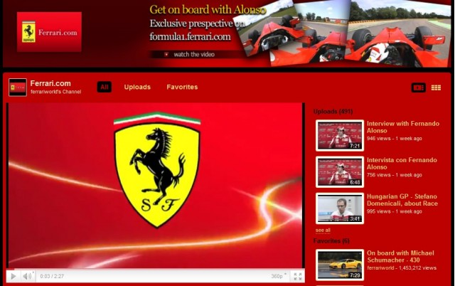 Screencap from Ferrari's YouTube channel