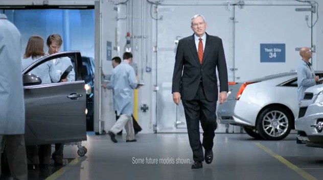 Screencap from GM ad featuring Ed Whitacre
