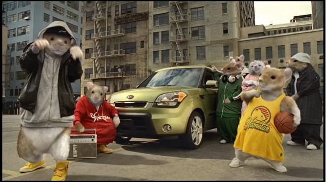 Screencap from Kia's summer 2010 commercial for the Soul