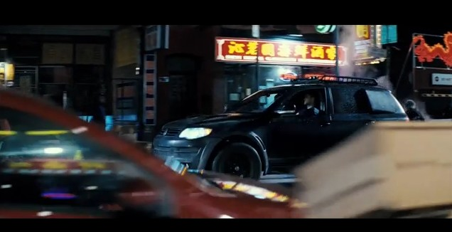 Screencap from 'Repo Men' featuring the Volkswagen Touareg