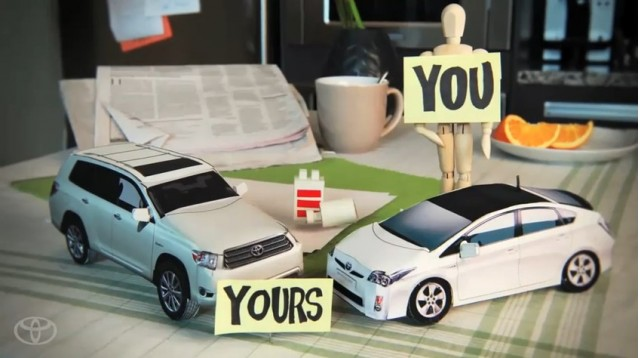 Screencap from Toyota 'Ideas for Good' video