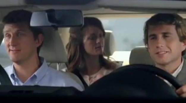 Screencap from Volkswagen's 'Shoot the Gap' ad