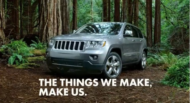 Screencap from Wieden + Kennedy spot for the 2011 Jeep Grand Cherokee