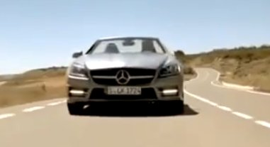 Screencapture of leaked 2012 Mercedes-Benz SLK video