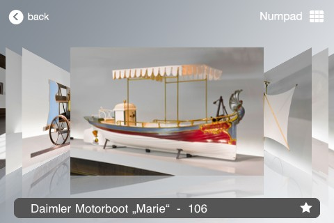 Screenshot from Mercedes-Benz 'Classic' app
