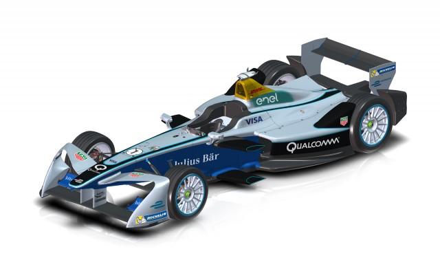 Season three Formula E Championship race car