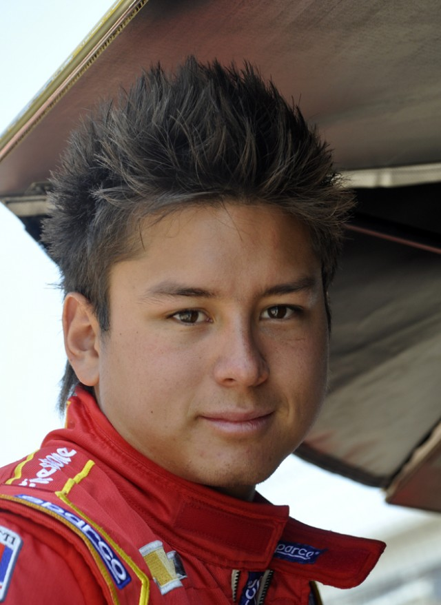 Sebastian Saavedra at the 2012 Indianapolis 500 - Anne Proffit photo