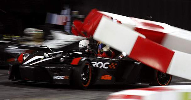Sebastien Loeb in a KTM X-Bow in the final stages of the 2008 Race of Champions