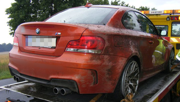 Second BMW 1-Series M Coupe crashed in Poland. Image via Motofilm.pl